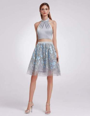 halter neck drop top and skirt set |neveralonemom.com