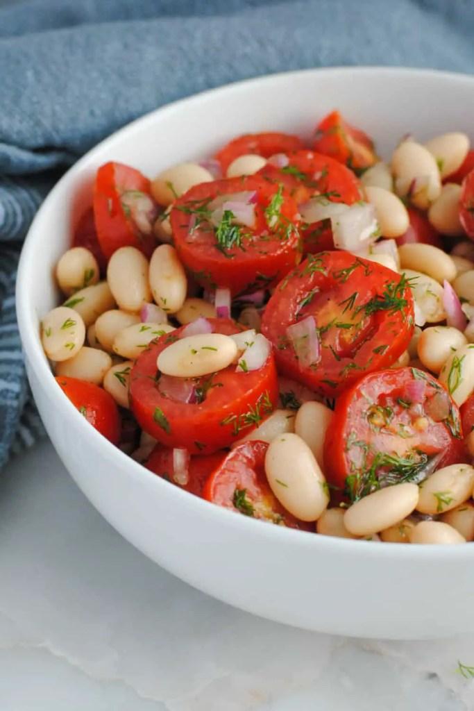 white bean tomato dill salad