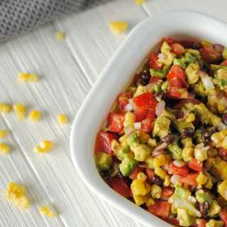 avocado, corn, black bean, and tomato salad recipe