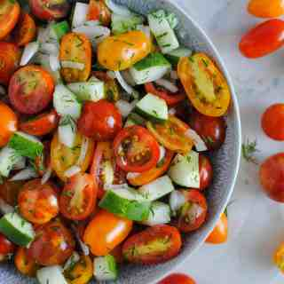 cucumber and tomato salad with dill