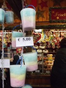 Algodão doce no Christmas Market da Rathausplatz