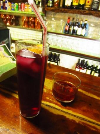 Sangria and rosè wine at Tasca El Corral