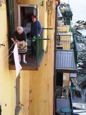 Riomaggiore balconies