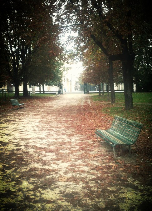 Parco Sempione on the autumn