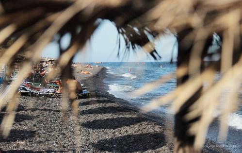 Santorini Series (Gallery 6): Kamari Beach and its straw umbrellas (10)