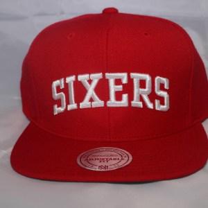 Mitchell and Ness NBA Philadelphia 76ers Team Solid Snapback Cap