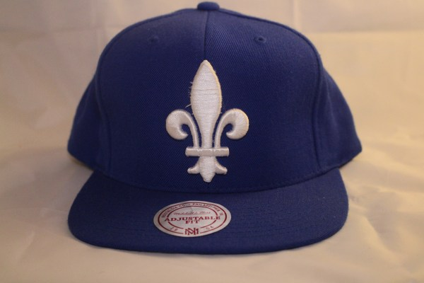Quebec Nordiques MITCHELL and NESS NHL Wool Solid Cap Blue
