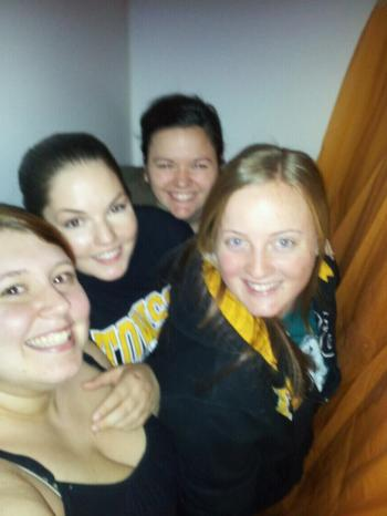 My crazy roommates and I from college. It should be noted this is all of use hiding in a bathtub waiting to scare another roommates boyfriend. This is why college is fun people.