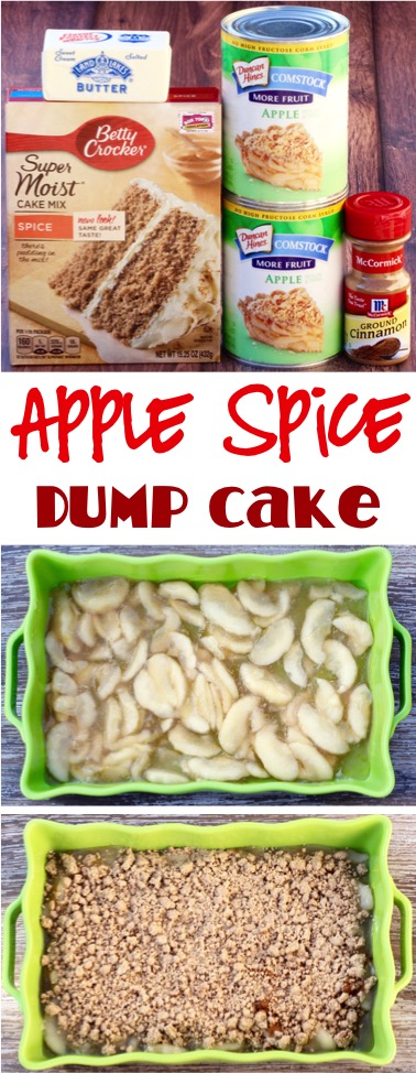 Easy Apple Spice Dump Cake Recipe | NeverEndingJourneys.com