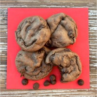 Dark Chocolate Fudge Cake Mix Cookies