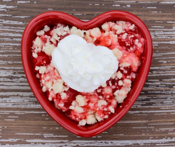 3 Ingredient Cherry Dump Cake Recipe from NeverEndingJourneys.com