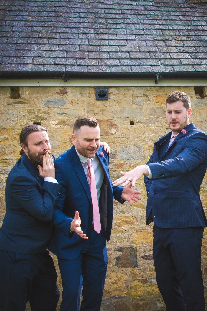 fun funny quirky groom picture