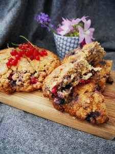 Blueberry & Redcurrant Scones