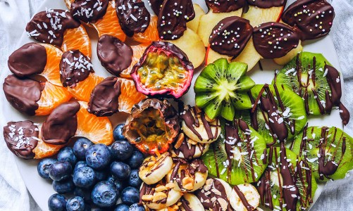 Chocolate Dipped Fruit Platter