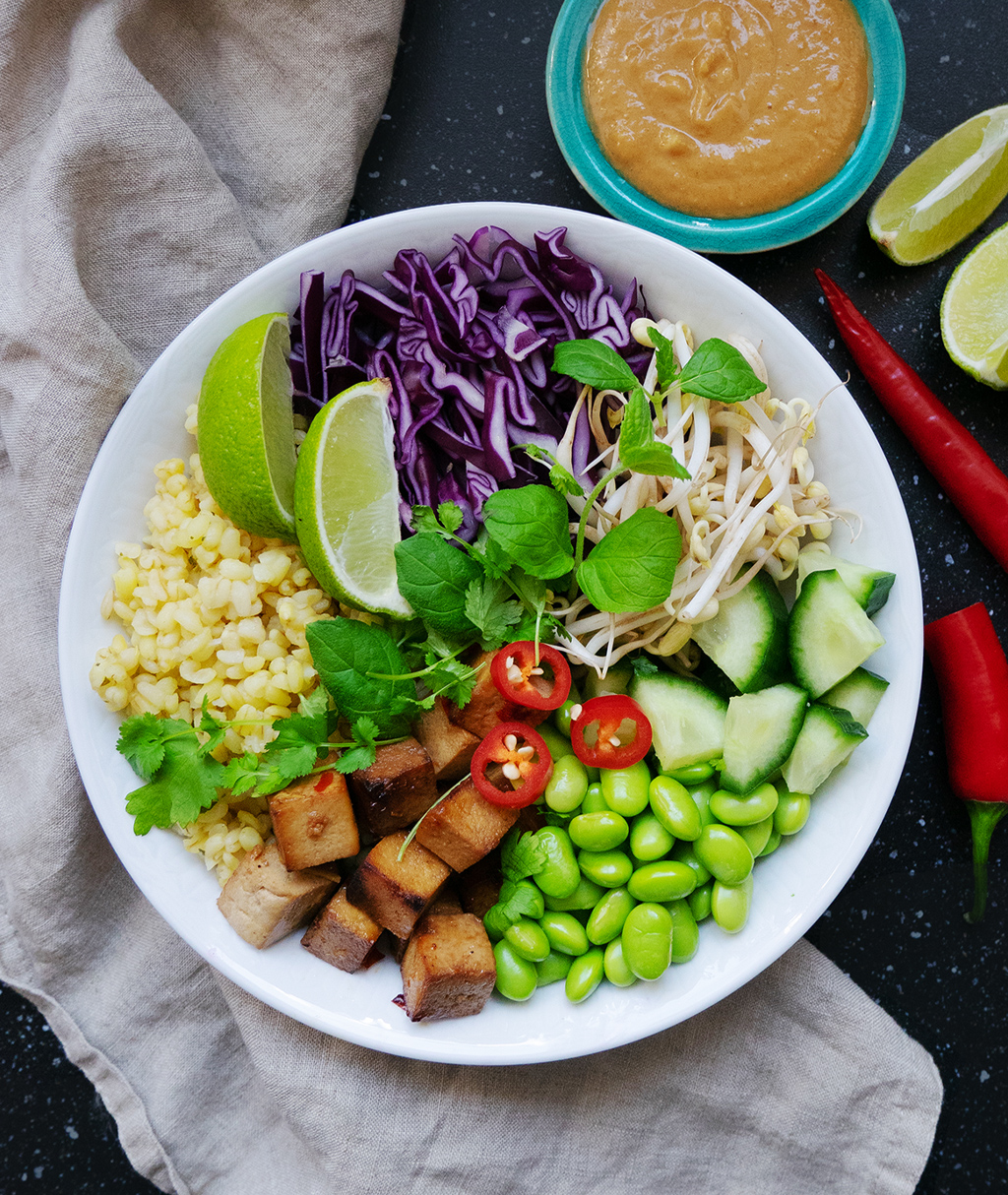 Tofu Bowl with PB Sauce