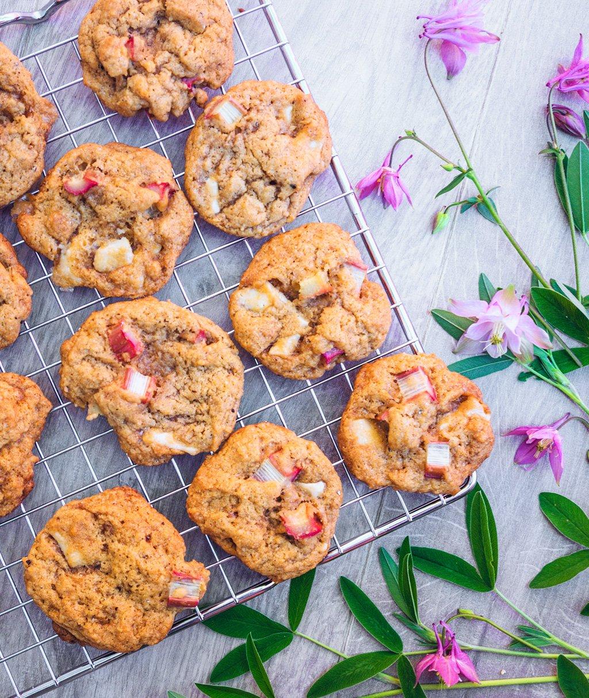 Rhubarb & White Choc Cookies