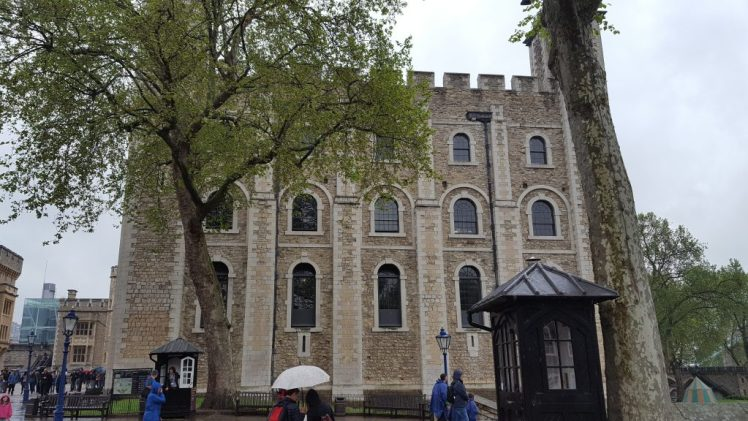 The White Tower - where Anne Boleyn was held prisoner
