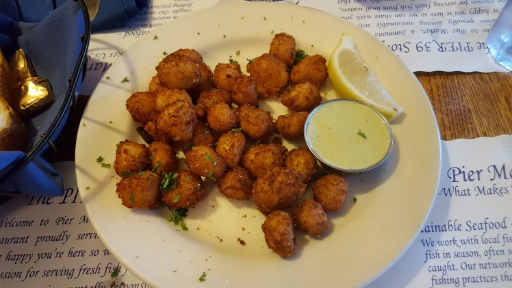 Fried scallops...so good!