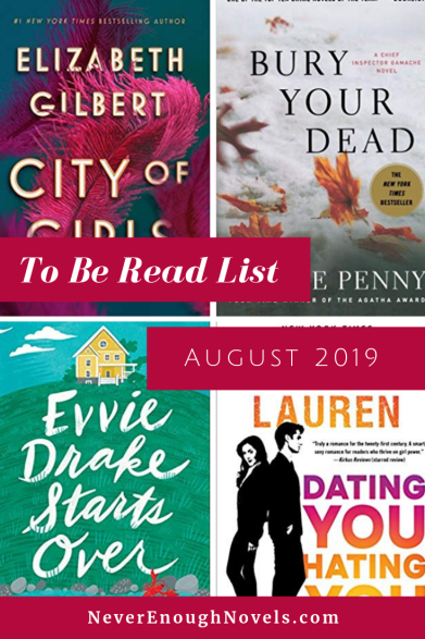 August 2019 To Be Read List