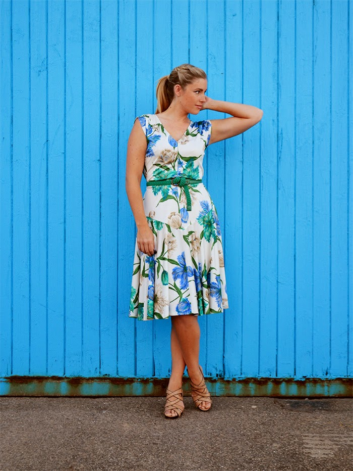 $1 vintage floral dress from Good Sammies Fremantle