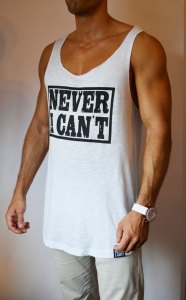 TB0964 camiseta de tirantes blanca corte laser lateral