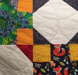 A close up of the quilting from the front...