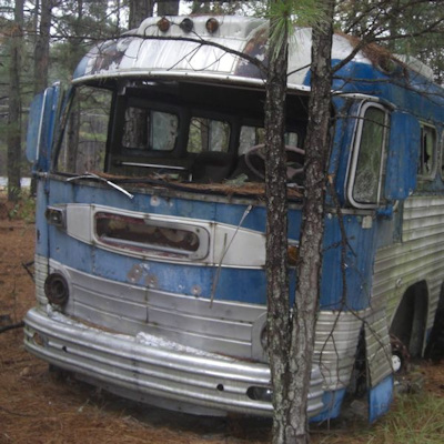 Old bus found in woods