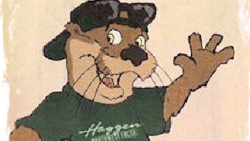 Otter the Haggen mascot
