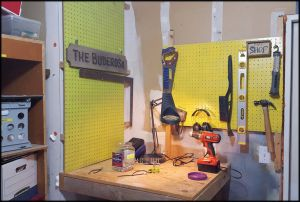 workbench: installed some pegboard