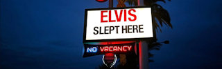 Elvis Slept Here! Motel sign.