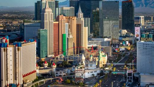 Colorful view of Las Vegas blooming in the desert