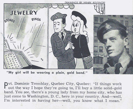 It's 1946 and Dominic is investing in a wedding band.