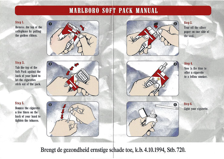 How to open and enjoy tour soft-pack cigarettes.
