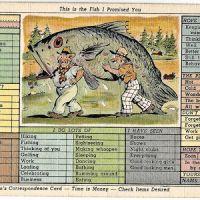 Big Fish cartoon postcard, checkbox style