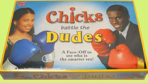 Chicks Battle the Dudes lame board game