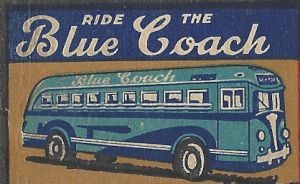 New York public bus lines on a matchbook