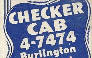 Burlington VT Checker Can matchbook