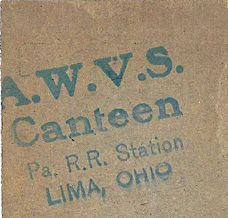 AWVS railroad station cafe ad inside Chunk's matchbook.