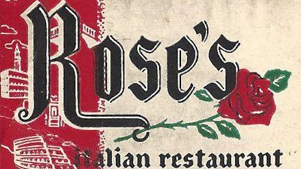 Matchbook from Rose's Italian Restaurant
