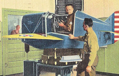 WWII Flight Trainer looks a bit silly