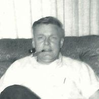 Dad in easy chair