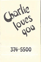 Charlie Loves You matchbook interior