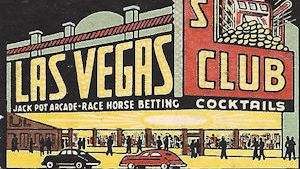lAS vEGAS cLUB EARLY CASINO MATCHBOOK COVER