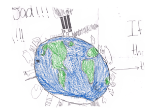 Child's view of a polluted earth