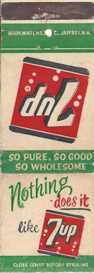 "Matchbook ""Nothing does it like 7Up"""