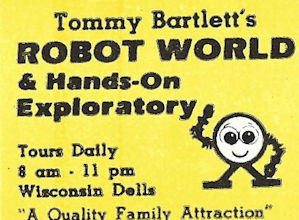 Book matches from your friends at Tommy Bartlett's show