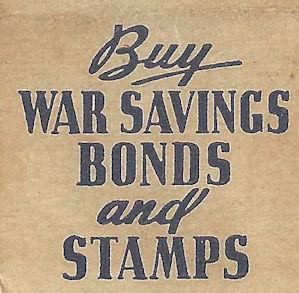 "Front of ""Buy War Bonds"" matchbook cover"