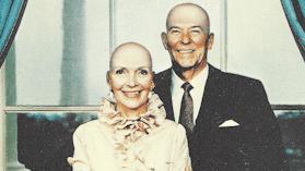 Bald Reagans postcard