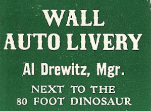 Wall Auto Livery matchbook cover