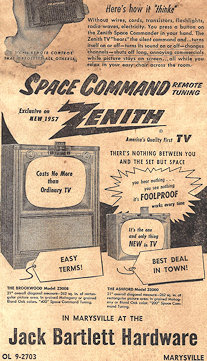 1958 Zenith TV with Space Command remote